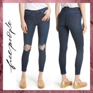 Free People Destroyed Busted Knee Denim Jeans 29 8
